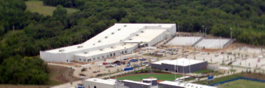 Aerial photo of Sports Pavilion Lawrence at Rock Chalk Park