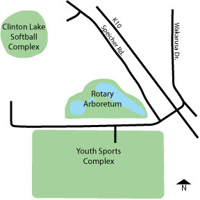 Clinton Lake Softball Complex Directions