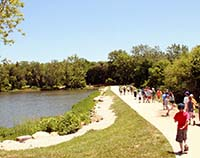 Picture of Children hiking at Mary's Lake