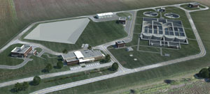 Rendering of Wakarusa Wastewater Treatment Plant