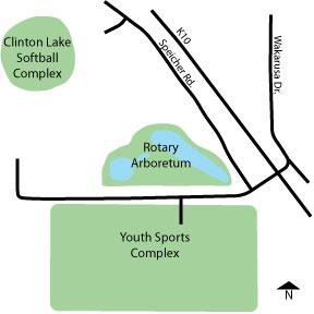 Clinton Lake Softball Complex Directions
